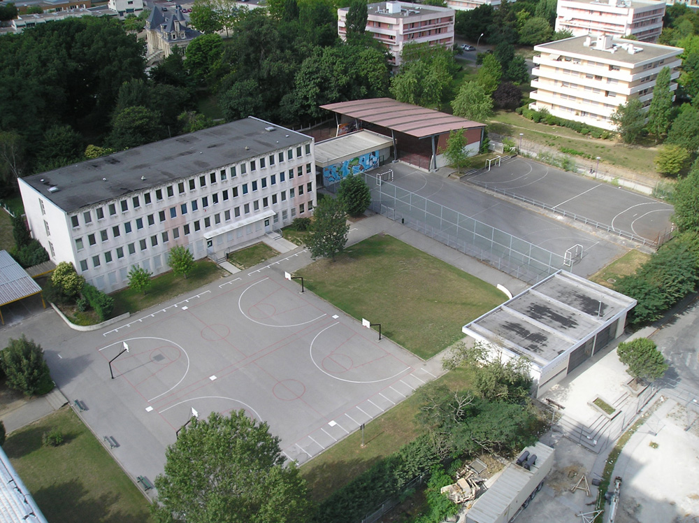 Vue aérienne de l'ancien collège Montaigne